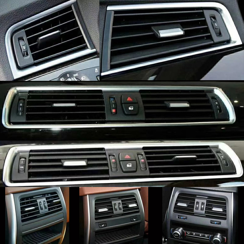 Front Row Wind Left Center Right back row Air Conditioning Vent Grill Outlet Panel With Chrome