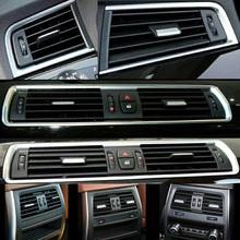 W pierwszym rzędzie wiatr po lewej stronie centrum tylnym rzędzie klimatyzacja Vent Grill Outlet Panel z chromowana płyta dla BMW 5 serii F07 GT tanie tanio Klimatyzacja montaż default 0 7kg air conditioner outlet 1inch Iso9001 TYUI