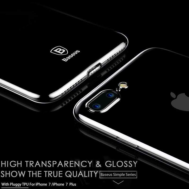 BASEUS Ultra Slim Dusty чехол для <font><b>iPhone</b></font> <font><b>7</b></font> Plus ультра тонкий мягкий чехол для <font><b>iPhone</b></font> <font><b>7</b></font> защитный В виде ракушки Clear задняя крышка