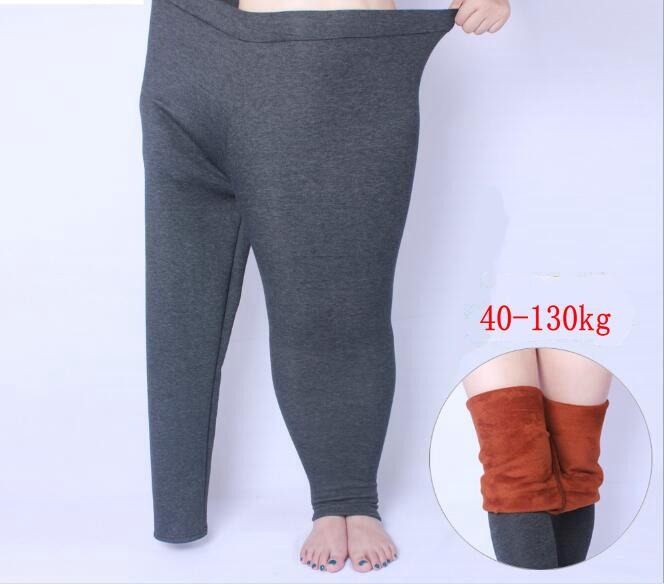 Winter Dicke Legging Große größe XL-6XL für Elastische Weichen Zeigen Frauen Allgleiches Schwarz Leggings Plus Größe baumwolle verdicken weiche Hosen