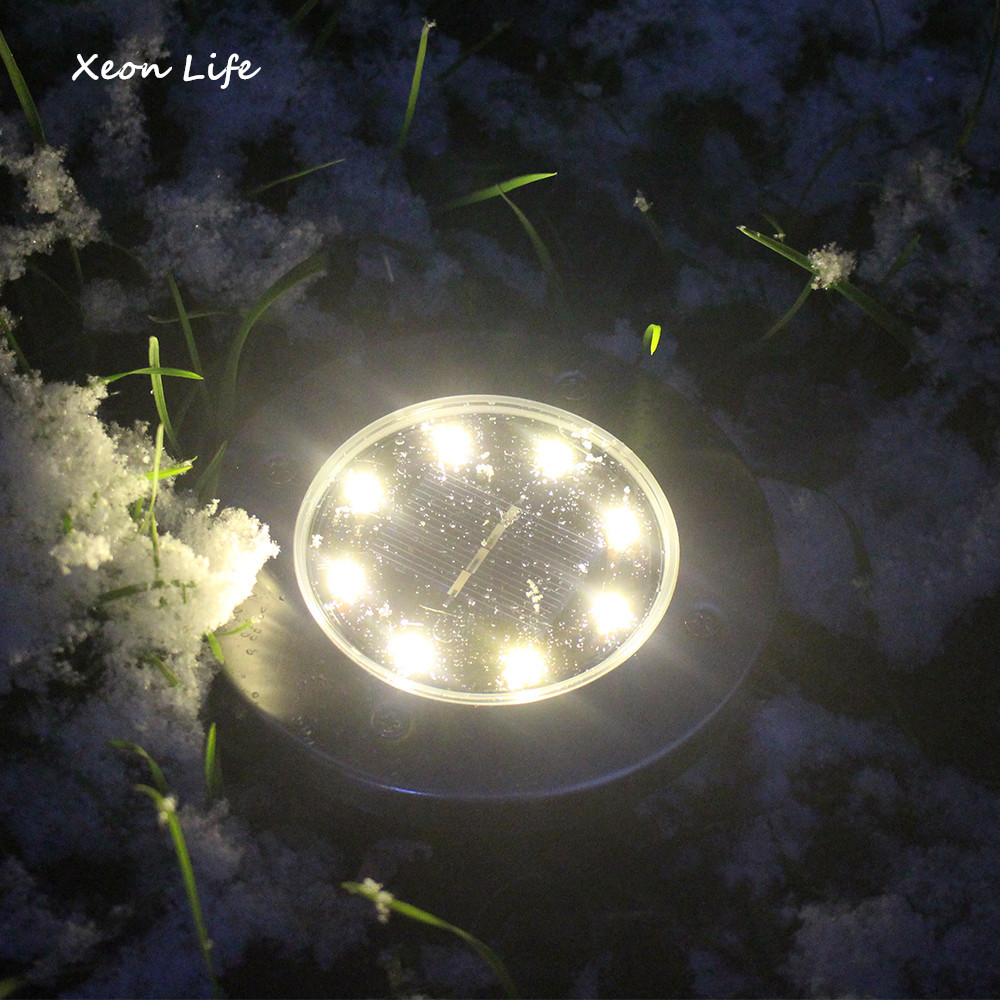 8LED Solar Power Buried Light Under Ground Lamp Outdoor Path Way Garden Decking Olar Powered Ground Light