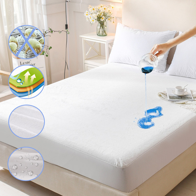 waterproof mattress protector. Terry Waterproof Mattress Protector Cover For Bed Wetting And Bug Suit  For American Queen Waterproof Mattress Protector