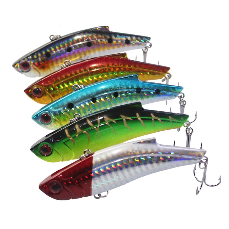 5Pcs/Lot 9cm 28g Fishing Lure VIB Ice Fishing Hard Bait Minnow Pesca Isca Artificial Bait Crankbait Swimbait Winter Fishing