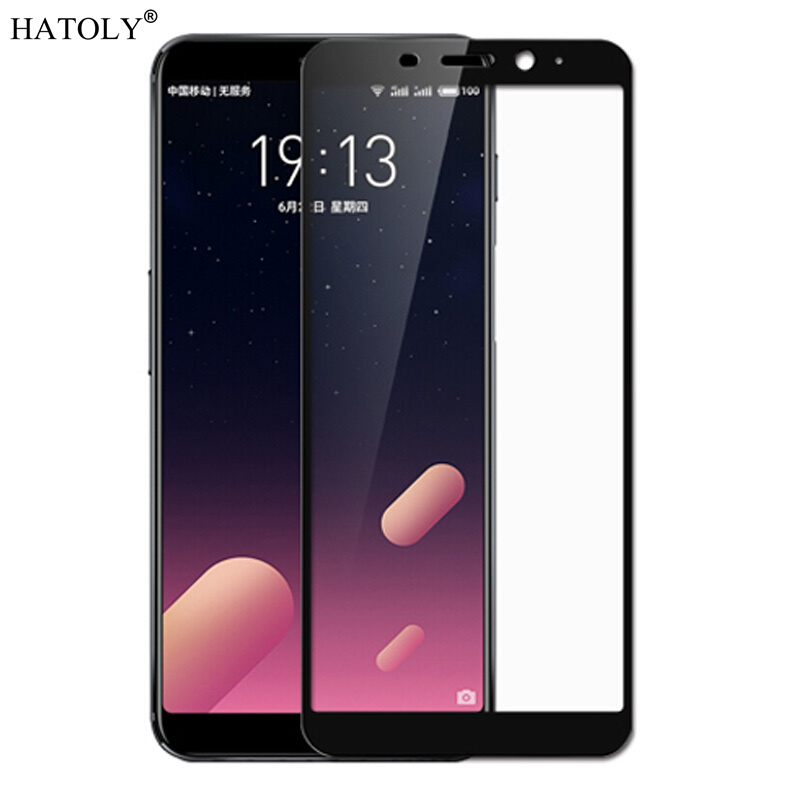 HATOLY Tempered-Glass Screen-Protector Meizu M6s Curved-Edge-Film for Meilan S6 Full-Cover