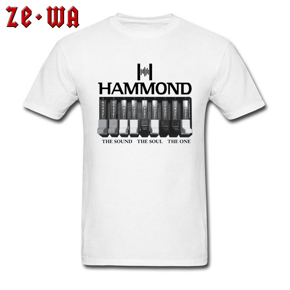 Electronic Keyboard Guitar T Shirt Music Hammond Organ Logo And Graphics Printed White T Shirts For Men Thanksgiving Day