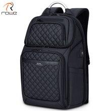 ROWE Men Backpack Multifunction USB 17 Inch Laptop Mochila Fashion Business Large Capacity Waterproof Travel For