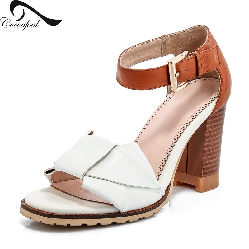 ФОТО Rough with mixed colors Sweet woman sandals 2017 Latest Natural leather Hot New Products Low to help Leisure wild female sandals