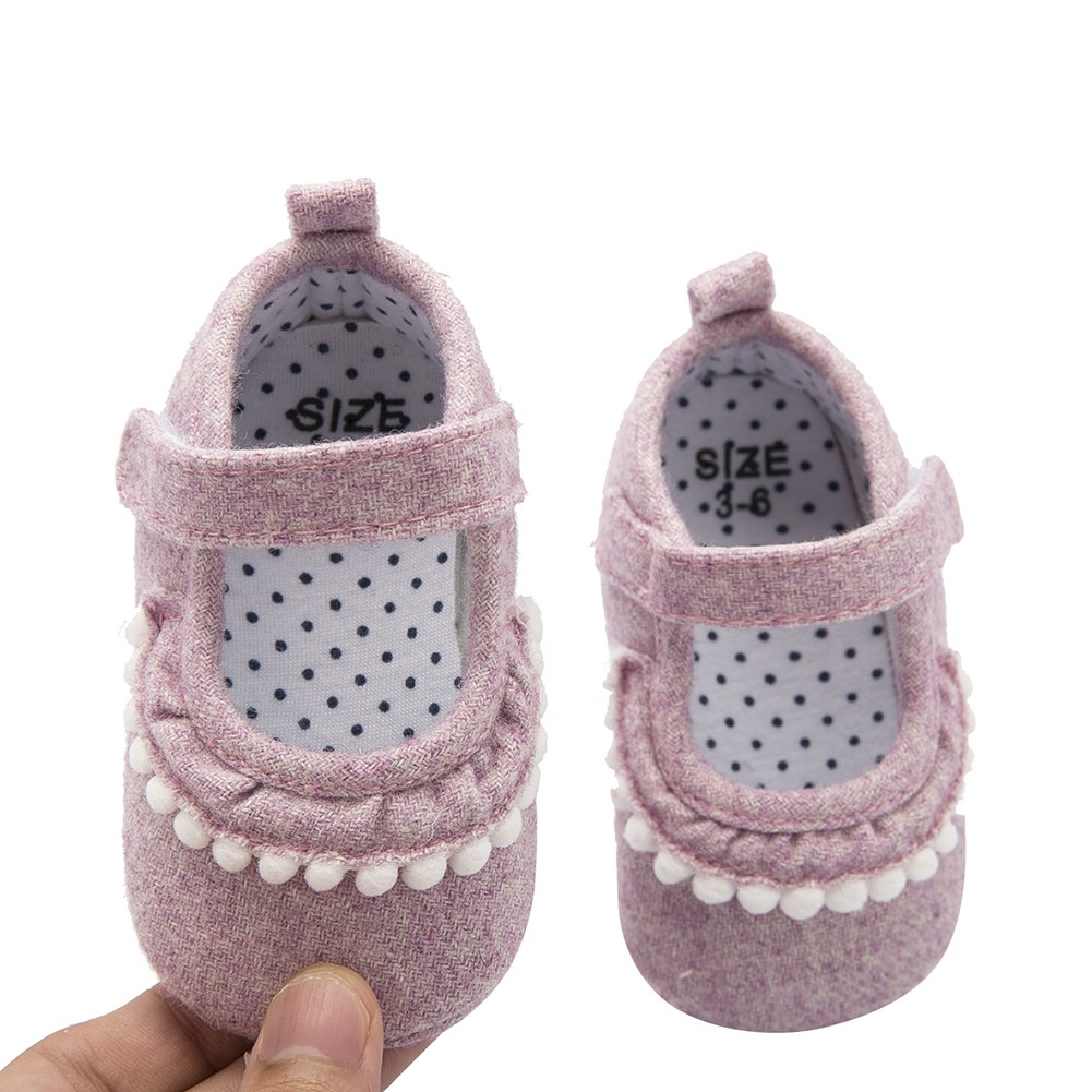 Fashion Blue Canvas Baby Girls Shoes Lovely Infant Princess First Walkers Cute Soft Sole Toddler Lace Baby Shoes in First Walkers from Mother Kids