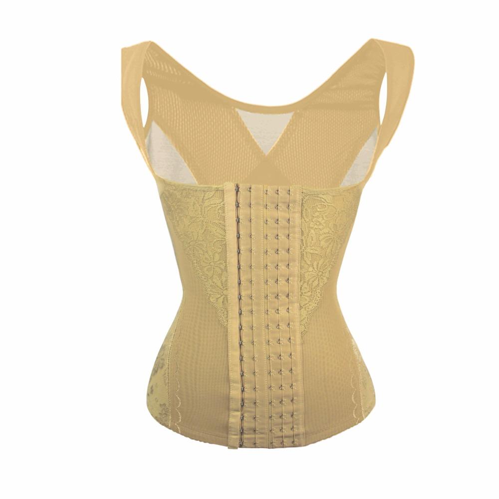 Abdomen Lace Waist Belt Corset Cross Slimming Underwear Vest Women Corset Cincher Breathable Sculpting Belly Control Body Shaper (2)