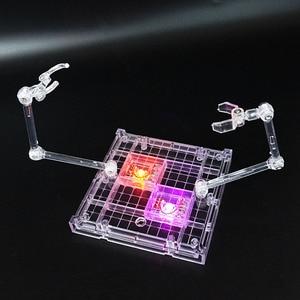 Image 3 - 1set 18*16cm Stage Act 2 arms Bracket Model Soul Bracket with LED Stand For gundam plastic model Robot Saint Seiya Toy Figure