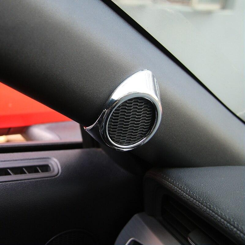 SHINEKA Car Styling Un-pilier Couverture de Haut-Parleur De Voiture Haut-Parleur Intérieur Couvercle Décoratif pour Ford Mustang 2015 +