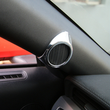 цена на Mustang Decoration A-pillar Speaker Cover Car Interior Speaker Decorative Cover for Ford Mustang 2015+
