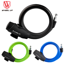 WHEEL UP 1.2m or 1.8m Anti Theft Cable Lock Steel Wire Safe 3 Colors Bicycle Lock