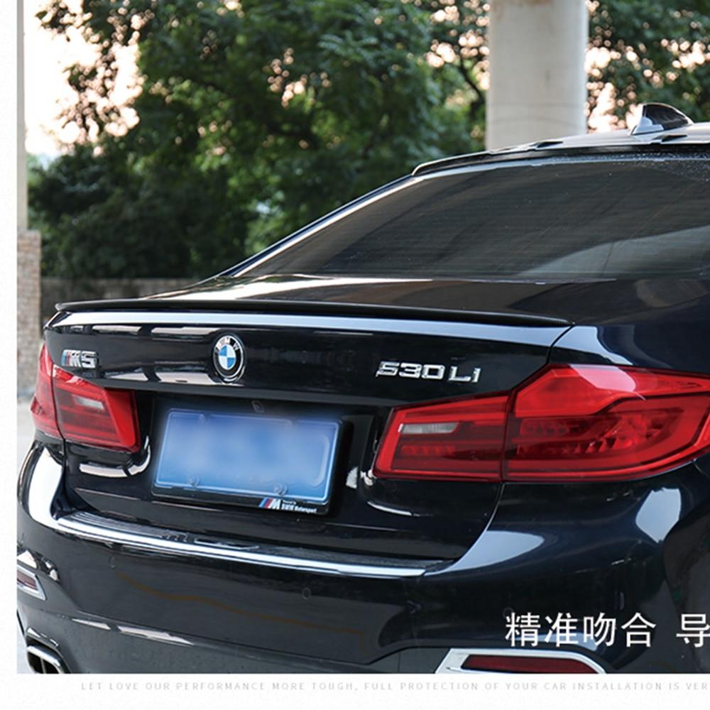 MONTFORD ABS Plastic Unpainted Primer Color Rear Trunk Boot Wing Spoiler  For BMW G30 G38 M5 520i 528i 535i 530i 525i Spoiler