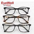 Мужской ацетат оптически рамки бренда дизайнерские очки кадр Старинные квадратных очки для мужчин и женщин 8805