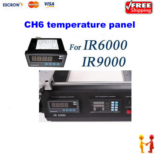 Free shipping!! CH6 Temperature Control Panel For IR6000 IR9000 BGA Rework Station pro table tennis pingpong combo racket ritc729 v 6 blade with 2x transcend cream rubbers shakehand long handle fl