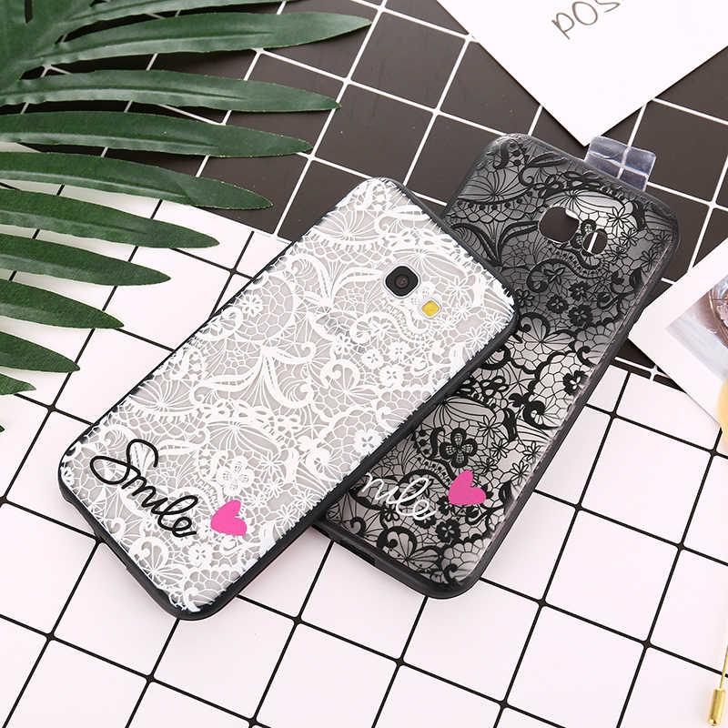 Fashion Lace Phone Case For Samsung Galaxy C5 C7 C9 J2 Pro S8 S9 Plus S7 Edge Note 9 8 A3 A5 A7 2017 J1 J3 J5 J7 2016 Back Cover