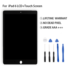 New tested For iPad 6 Lcd Display Touch Screen Digitizer Assembly For iPad Air 2 Display LCD Free Tools цена и фото