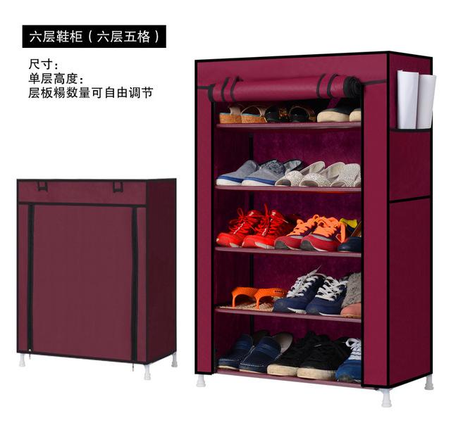 Envío libre zapatos bastidores de almacenamiento de gran capacidad No tejido del Zapato gabinete muebles para el hogar BRICOLAJE sencillo 5 Tier