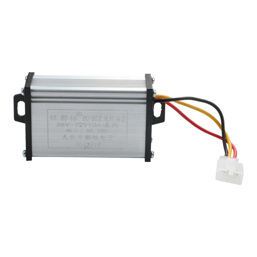 Konwertery elektryczny przekształtnik napięcia Buck DC36V/48V/60V/72V do 12V DC moduł zasilacz samochodowy napięcie na pojazd elektryczny