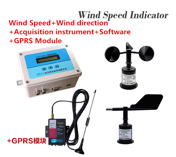 0-70m/s Wind speed indicator Online anemorumbometer Wind Speed+Wind direction+Acquisition instrument+Software+GPRS Module