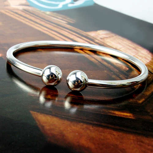 Silver Plated Bracelet Simple Style Open Handcuff Garlic Bangle for Women Open Hand Cuff Adjustable Bangle Fashion Jewerly