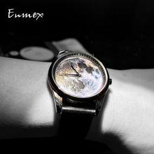 Enmex Individualization special design wristwatch 3D moonscape creative  neutral cool fashion quartz clock men watch