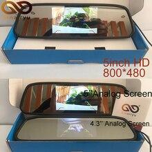 Sinairyu Высокое разрешение дюймов 5 дюймов HD заднего вида салона зеркало мониторы 2CH видео вход 480*800 DC 12 В в