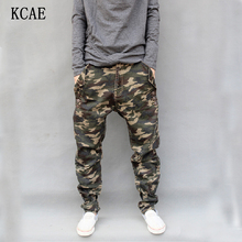 Camouflage Jeans Mens 2015 New Fashion Camo Harem Jeans Drop Crotch Plus Size S M L XL 2XL 3XL 4XL 5XL 6XL