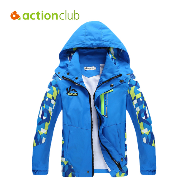 Actionclub Boys Apring Jackets Kids Casual Windproof Outerwear Coat Boys Sport Waterproof Hiking Clothes Children Clothing