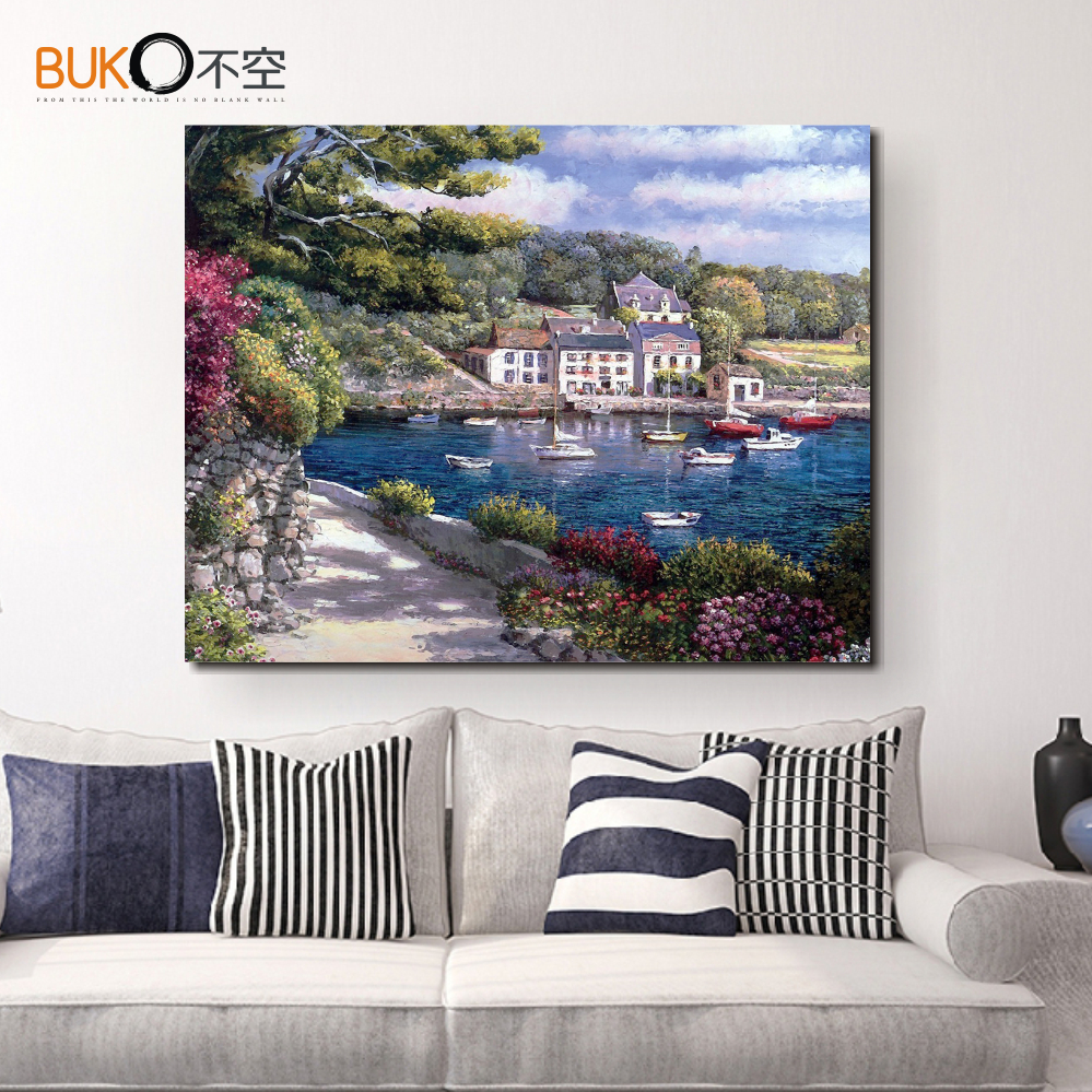 2016 New Inkjet Canvas Painting Home Decorative Painting Mediterranean Landscape Painting The