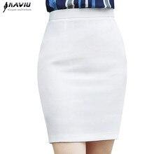Naviu Elegant and Fashion Women Bottoms Black White OL Formal Office Lady Mini Short Plus Size Pencil Skirt