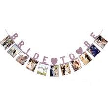 Фестиваль Поставки невесты фоторамка бумажная флаг вечерние гирлянда с колокольчиками баннер из ткани для флагов для свадебного мероприятия