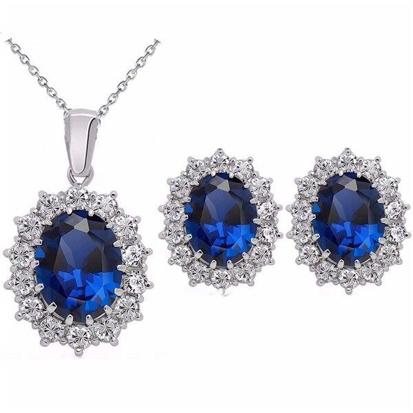Blue Crystal Stone Wedding...