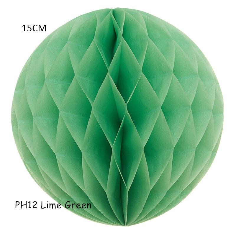8pcs Lot 6 15cm Lime Green Small Honeycomb Balls Colorful Paper