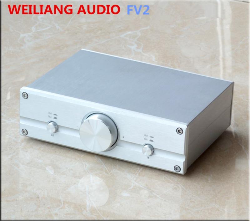 Fully Balanced Passive Preamp pre amplifier XLR/RCA ALPS Potentiometer audio volume control FV2