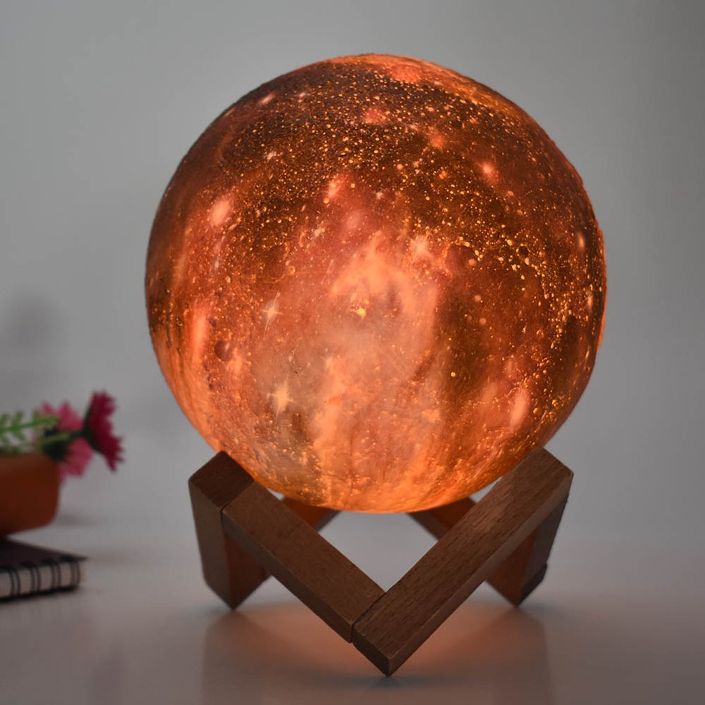 3D moon lamp touch remote control RGB Le