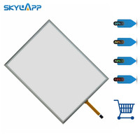 Skylarpu 15 inch 4 wire 322*247mm 322mm*247mm Resistive Touch Screen Digitizer for cash register queuing machine Free shipping
