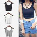 2016 Women Short  Crop Top Summer Style Sleeveless U Croptops Fitness  Tank Tops,Femme Vest Tube Top