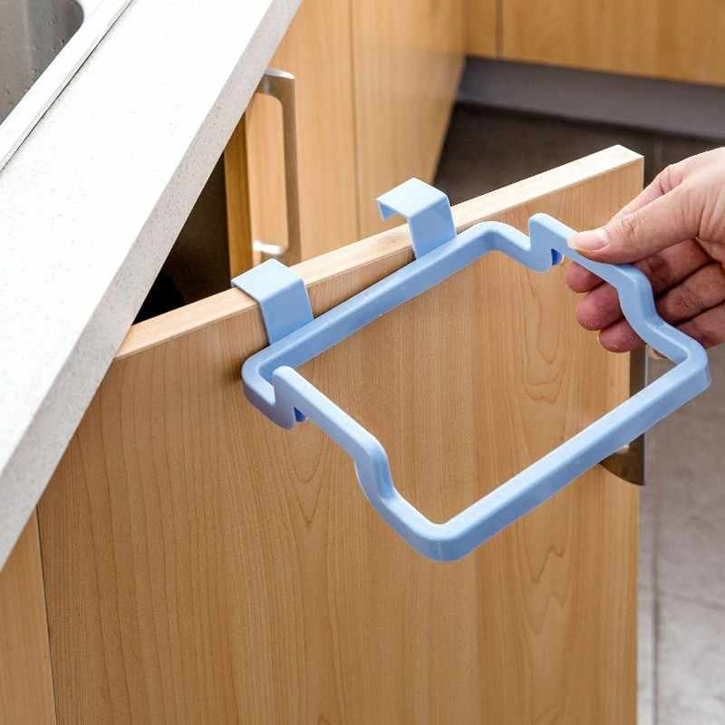 Ecológico portátil Porta Da Cozinha Armário de Estilo Stand Titular Suporte De Lixo Sacos de lixo de Volta Pendurado Armários Toalha Rack A3072