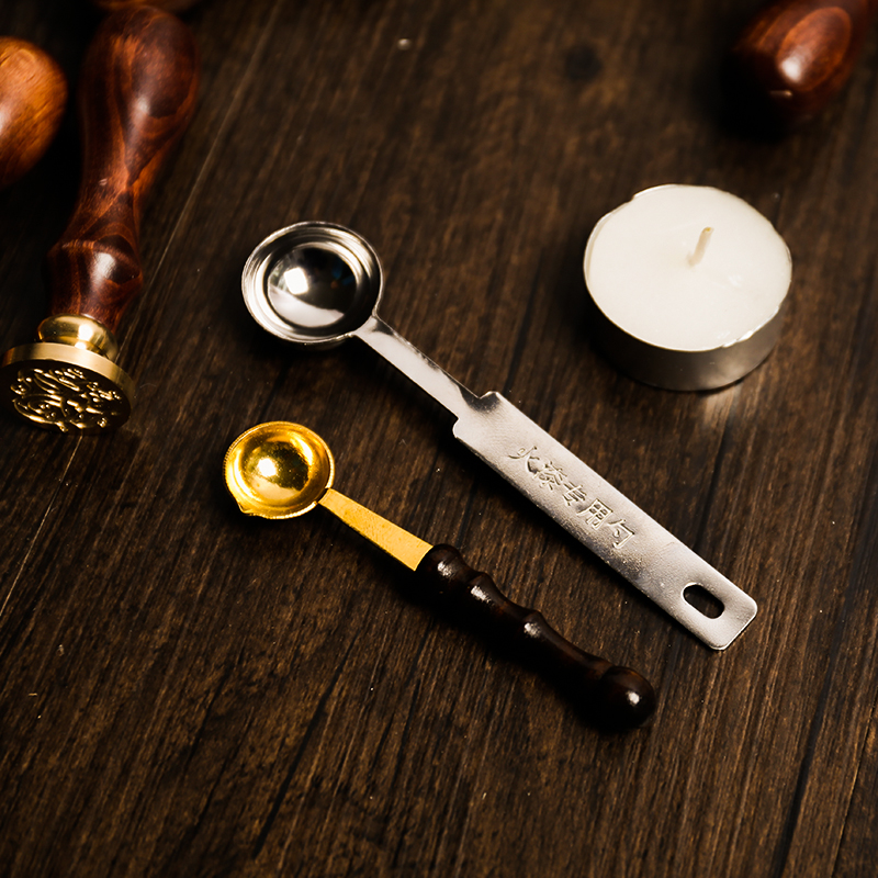 1pcs Fire Paint Spoon Fire Paint Production Special Accessories Fire Paint Wax Seal Wax Spoon Metal Wooden Handle 1pcs fire paint spoon fire paint production special accessories fire paint wax seal wax spoon metal wooden handle
