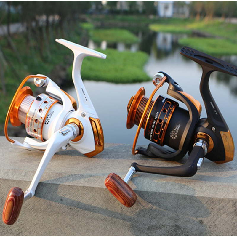 Metal Lure Spool Fishing Drag Spinning Reel met grotere spoel 12BB - Visvangst - Foto 1
