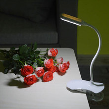 Creative Desk Lamps Led Clip Reading Book Light Eye Protection Bedside Student Bed Portable Table Lamp 12LEDS(China)