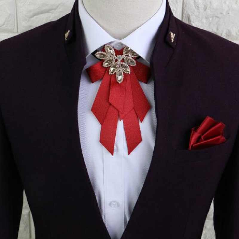 高品質マルチカラー結婚式花婿の付添人蝶ネクタイ多層リボン弓ネクタイビジネススーツボウタイアクセサリー