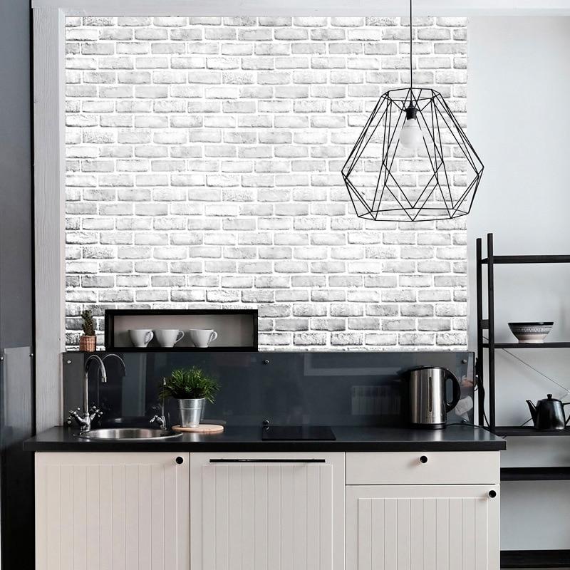 Brick Self Adhesive Peel and Stick Wallpaper Home Improvement