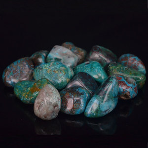 Bulk Tumbled Chrysocolla Stone Natural Polished Gemstone Supplies for Wicca, Reiki, Crystal Healing(China)