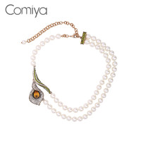Comiya Elegant Europe Synthetic Pearl Necklaces For Women Collier Femme Statement Chokers Necklace Collares Grandes De