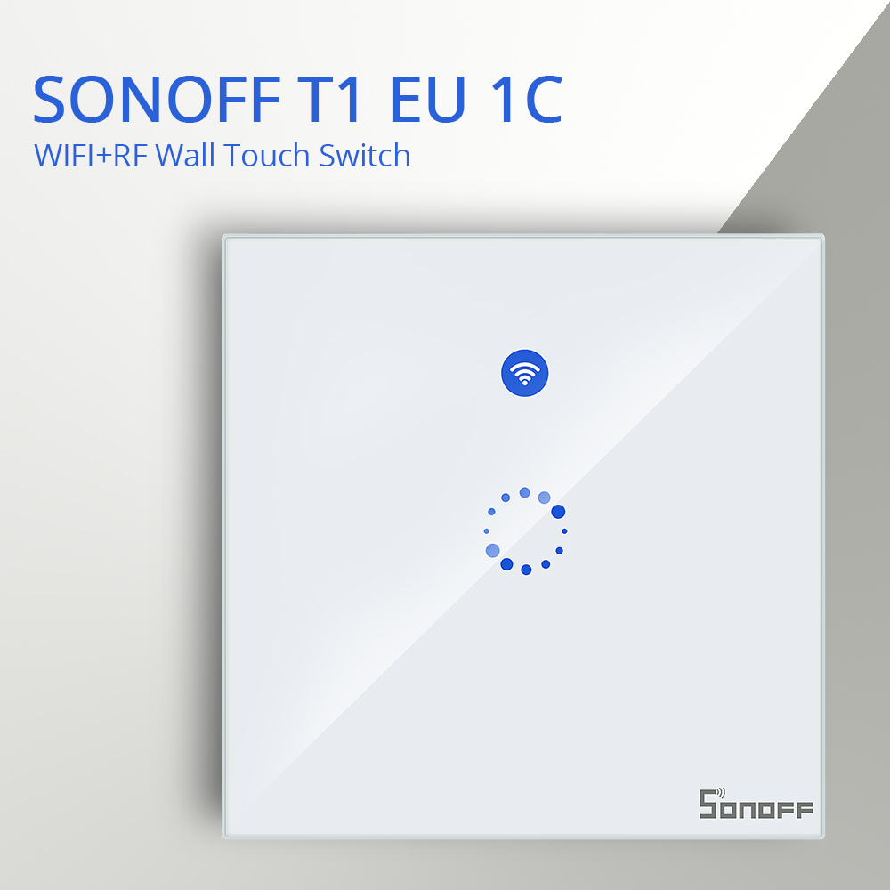 Sonoff T1 Eu Uk 1  2  3 Gang 433 Rf Remote Wireless Wifi Led