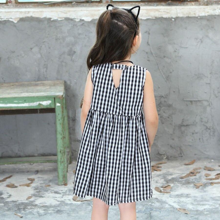 Girls Plaid Dresses Summer 2018 New Sleeveless O Neck Cotton 2 10 ...