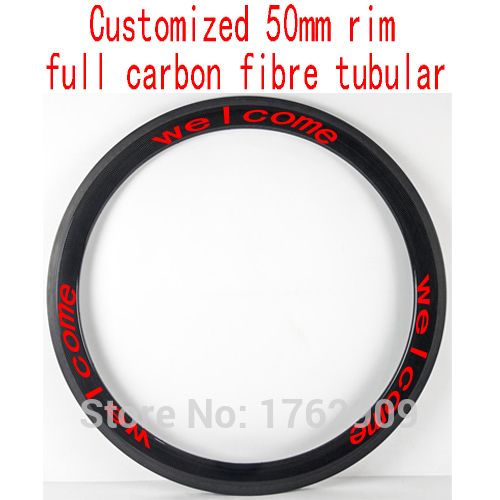 1Pcs New customized 700C 50mm tubular rims Road bicycle aero 3K UD 12K full carbon fibre bike wheels rims lightest Free shipping carbon wheels 700c 88mm depth 25mm bicycle bike rims 3k ud glossy matte road bicycles rims customize carbon rims